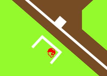三塁コーチ(ランナー2塁)